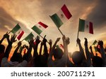 group of people holding... | Shutterstock . vector #200711291