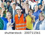 people with various occupations ... | Shutterstock . vector #200711561