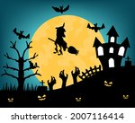happy halloween poster with... | Shutterstock .eps vector #2007116414