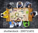 multi ethnic group of people in ... | Shutterstock . vector #200711651