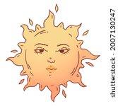 sun cartoon. the illustration... | Shutterstock . vector #2007130247