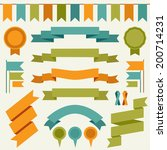 vector collection of decorative ... | Shutterstock .eps vector #200714231