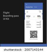 flight boarding pass ui screen. ...