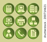 office web icons set. green... | Shutterstock .eps vector #200714621