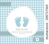 baby shower card for boy.blue... | Shutterstock .eps vector #200717465