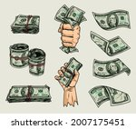 money elements colorful... | Shutterstock .eps vector #2007175451
