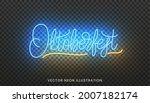 oktoberfest lettering neon sign.... | Shutterstock .eps vector #2007182174
