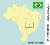 distrito federal  map of brazil ... | Shutterstock .eps vector #2007186227
