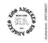 gothic los angeles l.a slogan...   Shutterstock .eps vector #2007188057