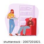 caregiver female character...   Shutterstock .eps vector #2007201821