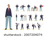 set of cartoon businessman in... | Shutterstock .eps vector #2007204074