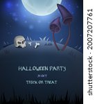 halloween card for design with... | Shutterstock .eps vector #2007207761