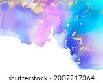 colorful and gold alcohol ink... | Shutterstock . vector #2007217364