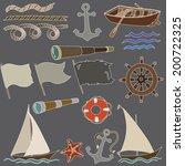 vector illustration of marine... | Shutterstock .eps vector #200722325