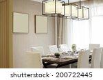 elegant house interiors  dining ... | Shutterstock . vector #200722445