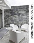 elegant house balcony | Shutterstock . vector #200722484
