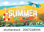 summer vacation baner layout... | Shutterstock .eps vector #2007238544