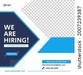 social media post design. job... | Shutterstock .eps vector #2007239387