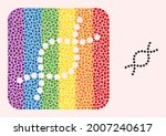dotted mosaic genetic spiral... | Shutterstock .eps vector #2007240617