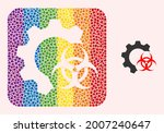 dotted mosaic biohazard...   Shutterstock .eps vector #2007240647