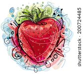 sketchy strawberry | Shutterstock .eps vector #200724485