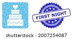 first night textured seal print ...   Shutterstock .eps vector #2007254087