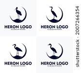 simple heron logo concept...   Shutterstock .eps vector #2007266354
