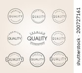 collection of premium quality... | Shutterstock .eps vector #200727161