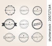 collection of premium quality... | Shutterstock .eps vector #200727164