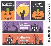 happy halloween day web header... | Shutterstock .eps vector #2007273314