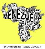 venezuela map typographic map...   Shutterstock . vector #2007289334