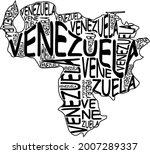 venezuela map typographic map...   Shutterstock . vector #2007289337