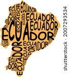 ecuador map typographic map...   Shutterstock . vector #2007293534