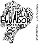 ecuador map typographic map...   Shutterstock . vector #2007293537