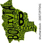 bolivia map typographic map...   Shutterstock . vector #2007297041