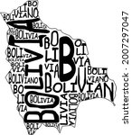bolivia map typographic map...   Shutterstock . vector #2007297047