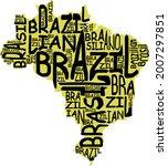 brazil map typographic map...   Shutterstock . vector #2007297851