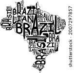brazil map typographic map...   Shutterstock . vector #2007297857