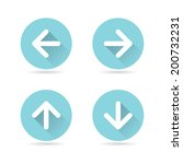 modern arrow icons with long...