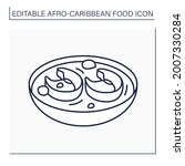 afro caribbean food line icon.... | Shutterstock .eps vector #2007330284
