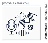asmr line icon. paper crinkles  ... | Shutterstock .eps vector #2007330461
