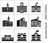 icons for school on a white... | Shutterstock .eps vector #200733401