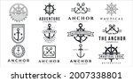 set of nautical or marine logo... | Shutterstock .eps vector #2007338801
