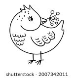 cute black and white bird with...   Shutterstock .eps vector #2007342011