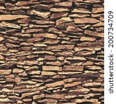 Stone Wall  Brown Relief...