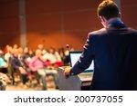 speaker at business conference...   Shutterstock . vector #200737055