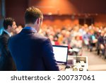 speaker at business conference... | Shutterstock . vector #200737061