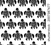 sea turtles seamless vector...   Shutterstock .eps vector #2007387677