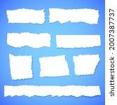 scrap paper. torn pieces of...   Shutterstock .eps vector #2007387737