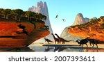 Dinosaur Valley 3d Illustration ...